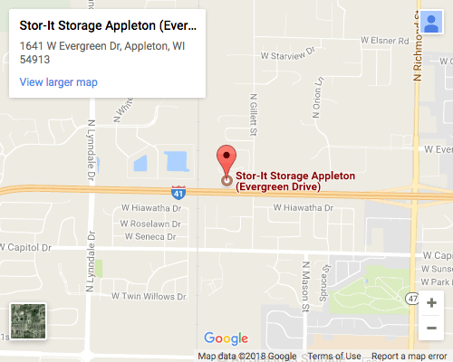 Stor-It Located in Appleton on Evergreen Dr